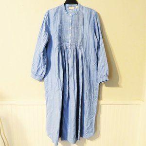 L.L. Bean Women's Vintage Blue Flannel Nightgown